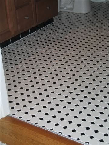 Octagon And Dot Tile Home Depot Has The Version With Black Dots