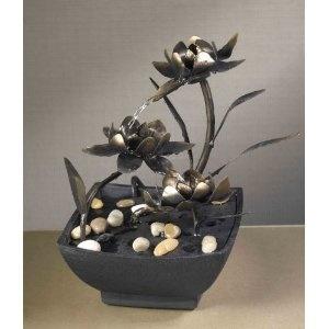Cadono Metal Flower Tabletop Fountain