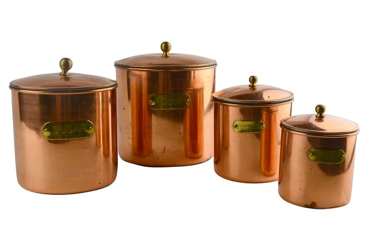 copper kitchen canisters set of 4 kitchen canisters amp canister sets kirklands