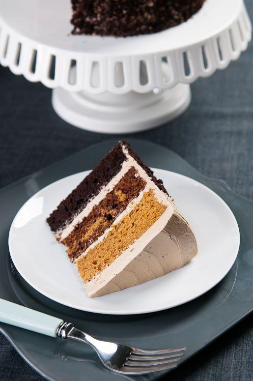 butterscotch pumpkin chocolate cake // Hungry Rabbit