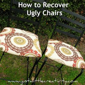 ... Little Creativity: How to recover ugly chairs {Trash to Treasure DIY