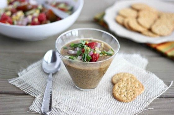 Heirloom Tomato Gazpacho with Roasted Poblano Peppers | Bake Your Day ...