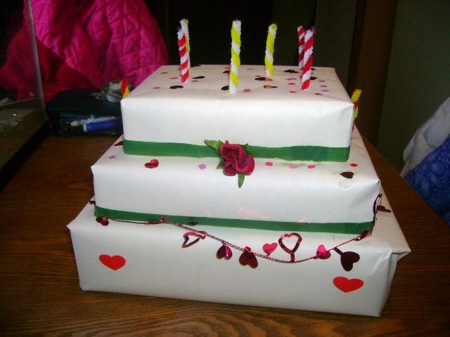 Birthday Cake Valentine box  Holidays  Pinterest