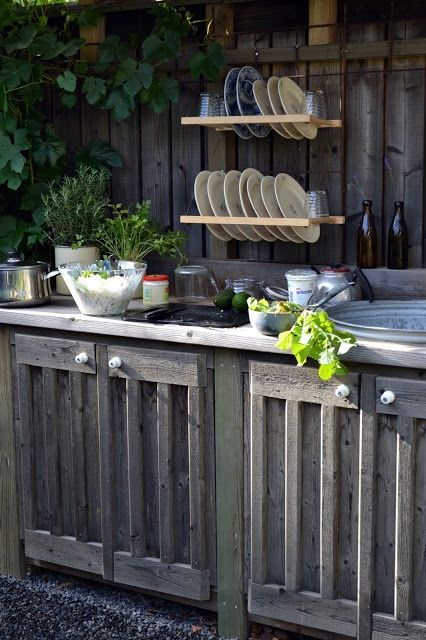 Rustic Outdoor Kitchen Outside Ideas Pinterest