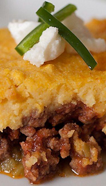 Cheddar And Green Chile Corn Pudding Recipe — Dishmaps