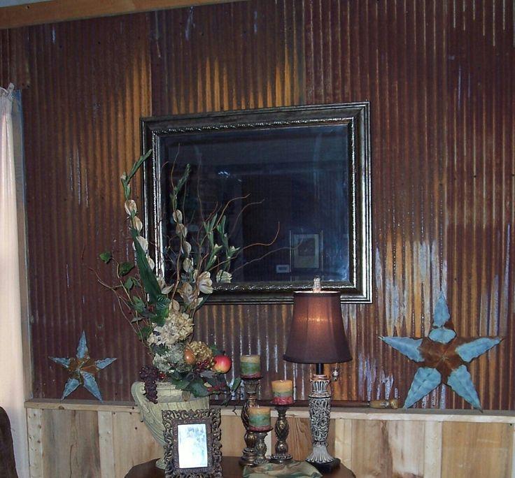 rusted barn tin ceiling - photo #17
