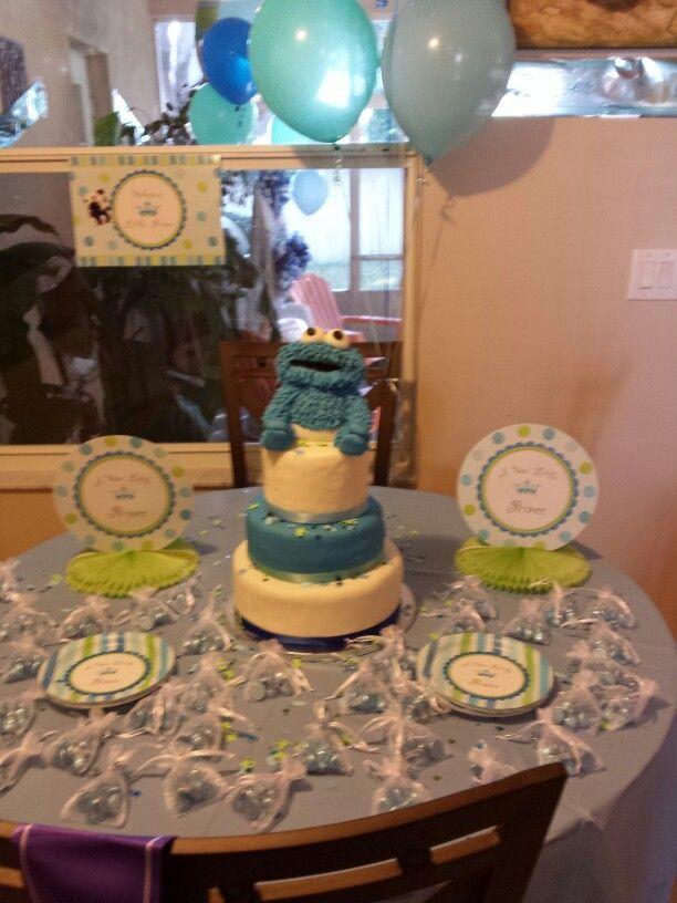 cookie monster baby shower cake cake ideas pinterest