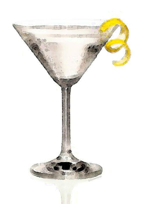Martini glass artwork