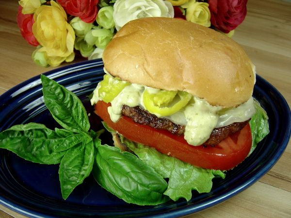 Spicy Sicilian Burger with Basil Mayo | Recipes to Try | Pinterest