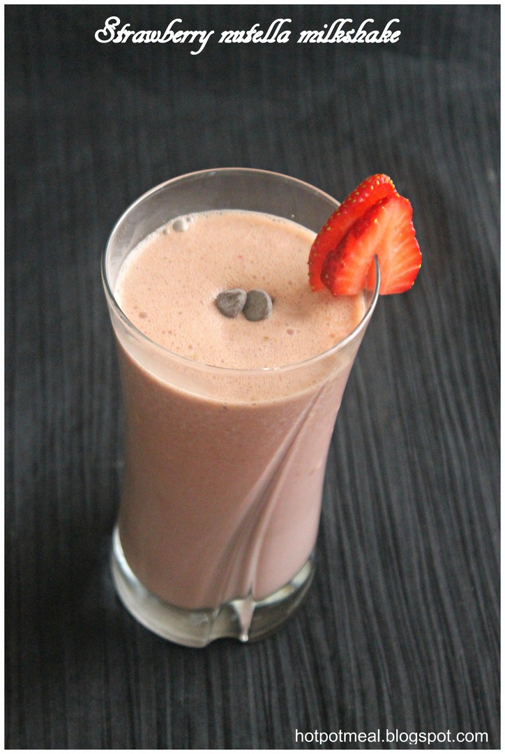 Strawberry nutella milkshake. I'd lose the sugar with nutella being so ...