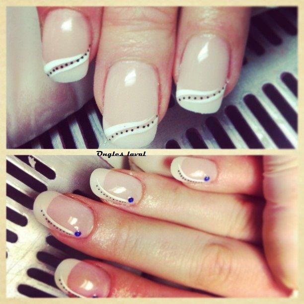 ... design / polka dot / blanc design / nails art / nails design / ongles