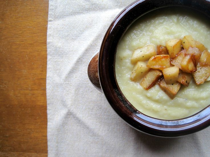 Celery Root Soup with Caramelized Apples | A Weekend in the Kitchen ...