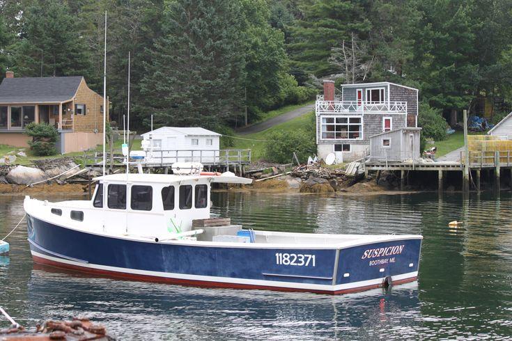 Lobster Boat, Boothbay Harbor, Maine | gone fishing | Pinterest