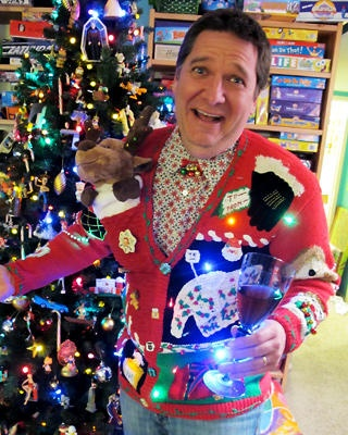 Ugly holiday sweater this ones for u toni