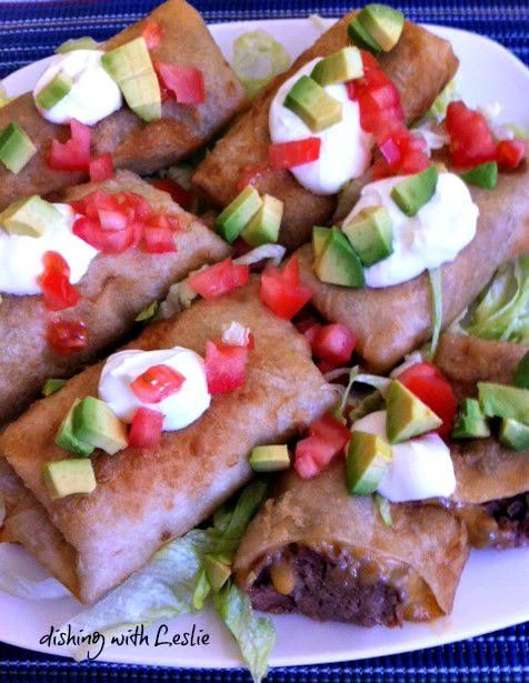 Shredded Beef Chimichangas | Recipes and FYI's | Pinterest