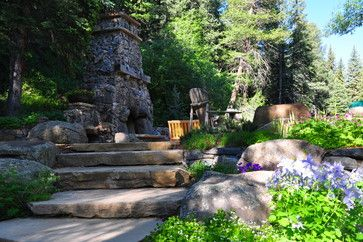 Paths stairs and gates traditional landscape denver