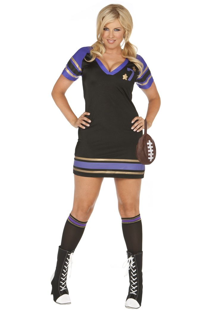 football sexy Plus costumes size