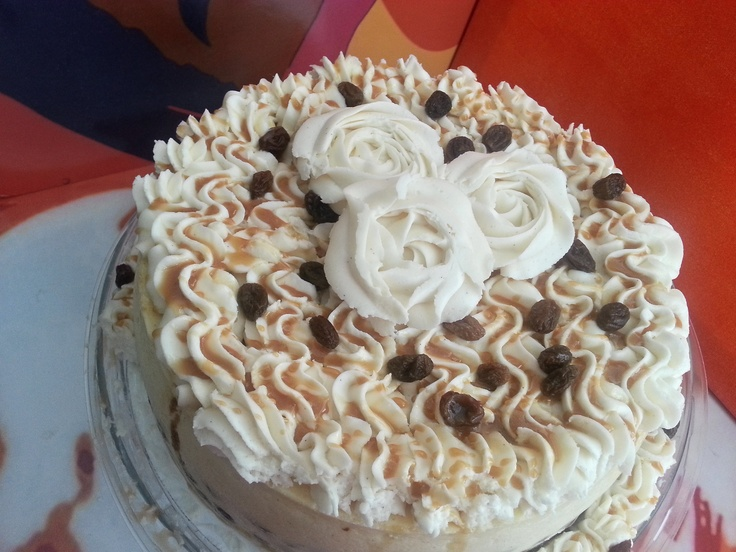 Rum Raisin Cheesecake! Vanilla cake with a hint of rum for the crust ...