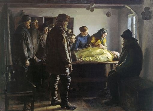 Michael Ancher: Den druknede 1894