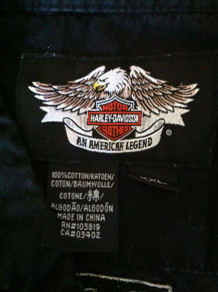 Harley Davidson Gray Short Sleeve Button Down Shirt