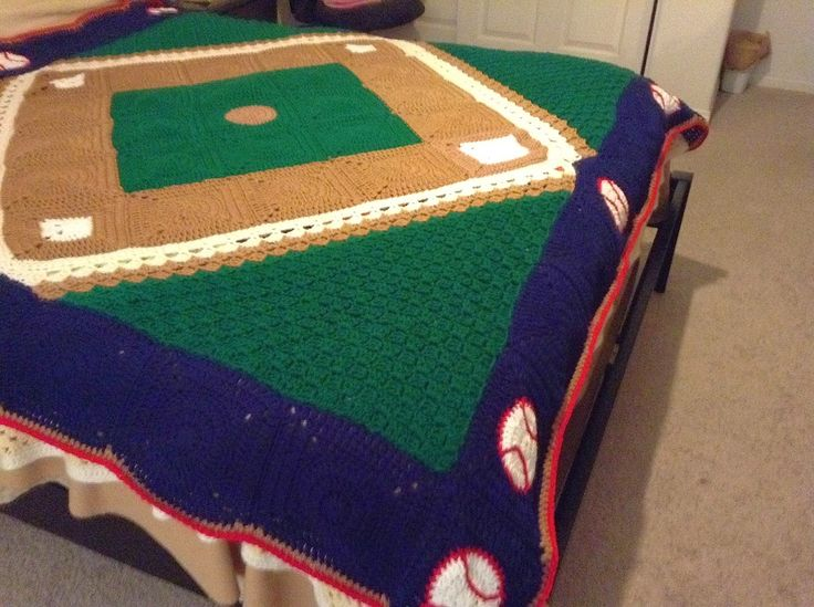 Crochet Pattern For Sports Blanket : crochet Baseball Blanket Images - Frompo