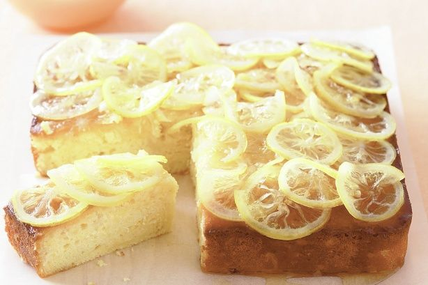 Sour cream and lemon syrup make this cake a moist treat and it's so ...