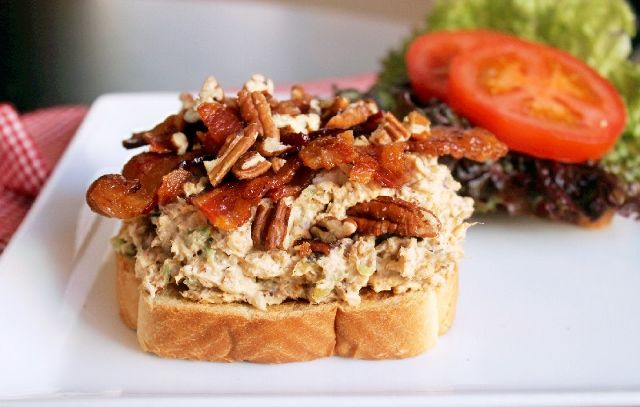 Crunchy Chicken Salad Sandwiches With Bacon Recipes — Dishmaps