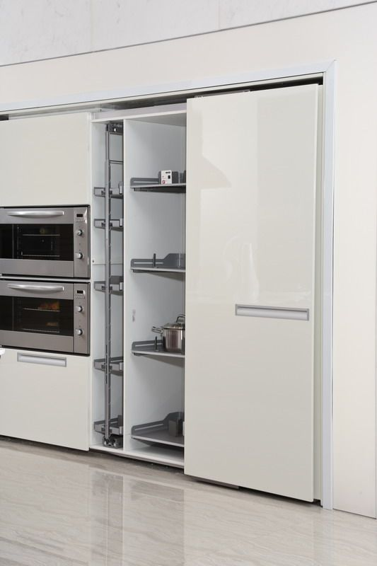 Sliding Door Of Pantry Cabinet Oppein White Kitchens Taking Over