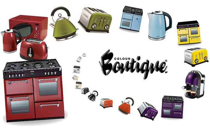 cookers with colour matched Morphy Richards small kitchen appliances