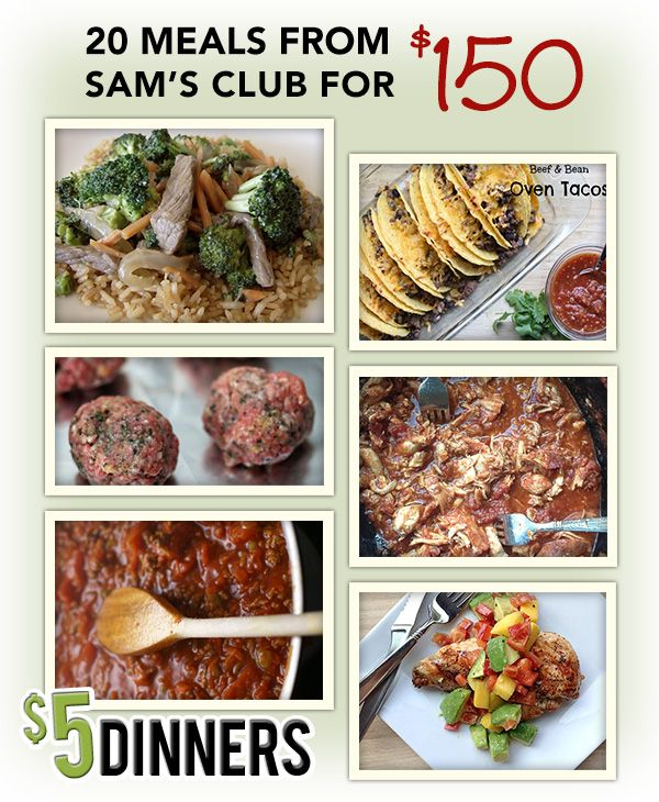 20 Meals from Sam's Club for $150 – Recipes & Printable Shopping Lists | 5DollarDinners.com