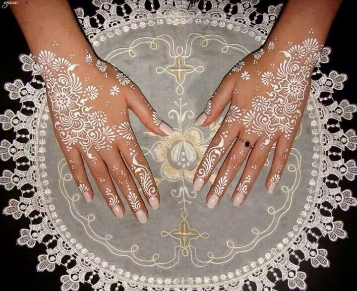 White Mehndi Tattoo : White henna so cute pinterest
