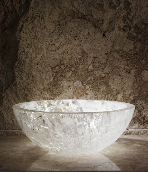 Sink Rocks : Lapicida: Rock crystal basin. Modenus objects Pinterest