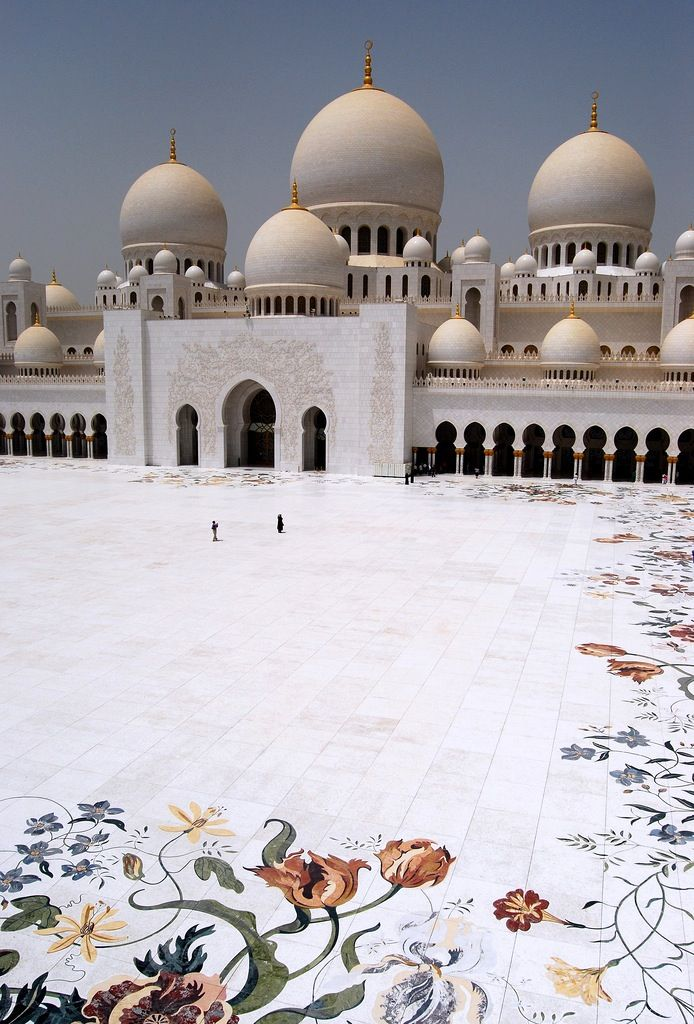 Sheikh Zayed Mosque Abu Dhabi Places Pinterest