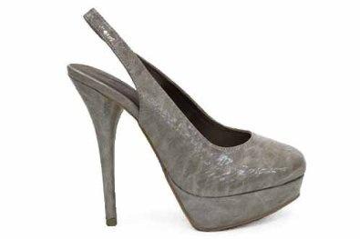 Womens Black Slingback Platform Ladies Heels Shoes shoes-other-uk
