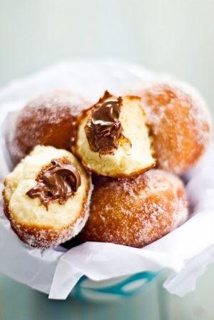 Nutella Doughnuts | Recipes | Pinterest