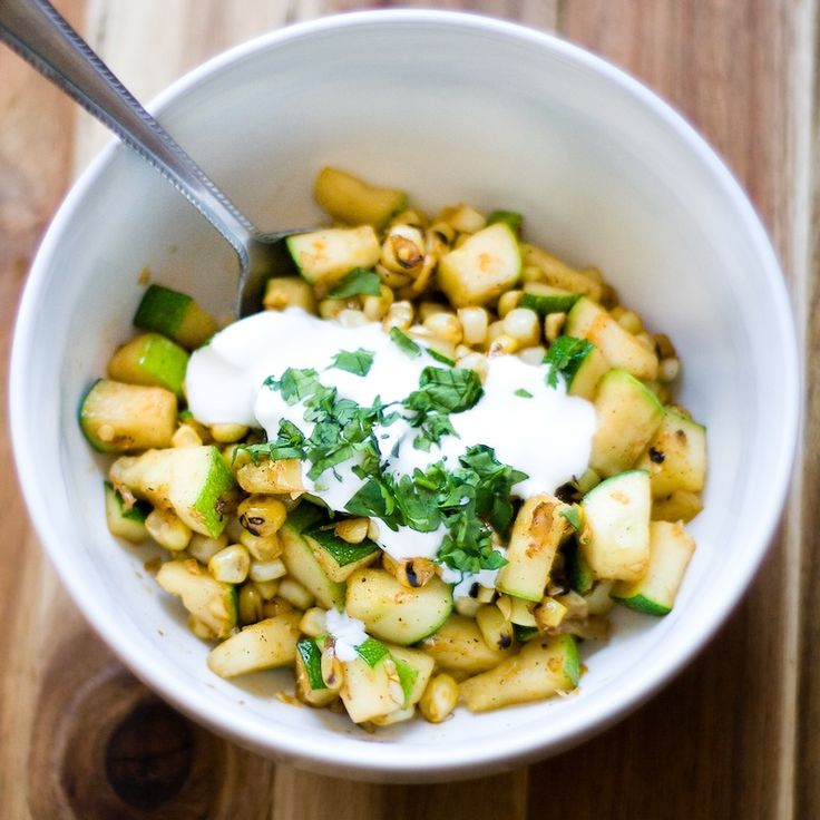 Charred Sweet Corn + Zucchini Relish | Eat More Veggies | Pinterest