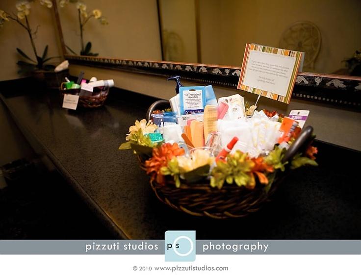Bathroom Decorations For Wedding : Bathroom necessities basket