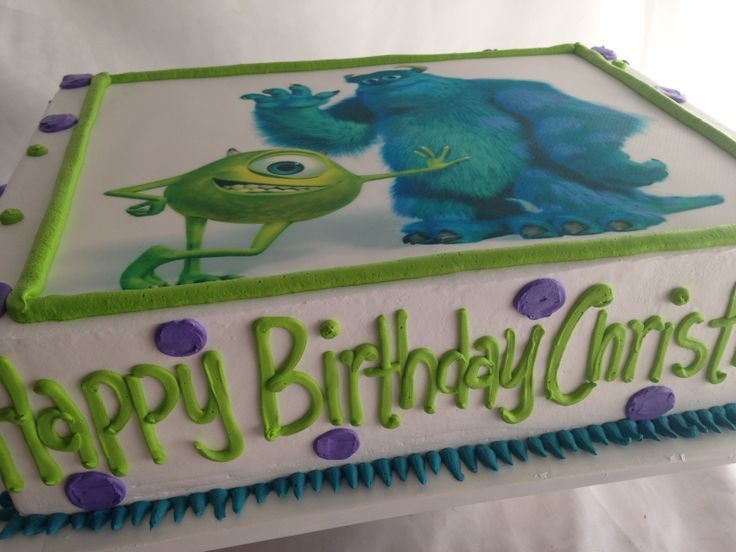 monsters inc sheet cake whitney 39 s baby shower pinterest