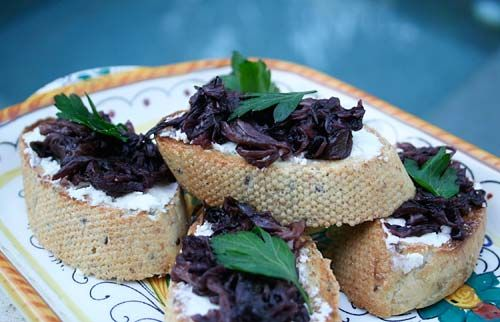 Bruschetta With Caramelized Radicchio And Goat Cheese. These were ...