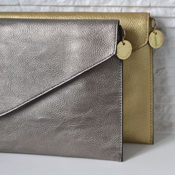 Personalised Metallic Clutch Bag By Lily Belle Notonthehighstreet