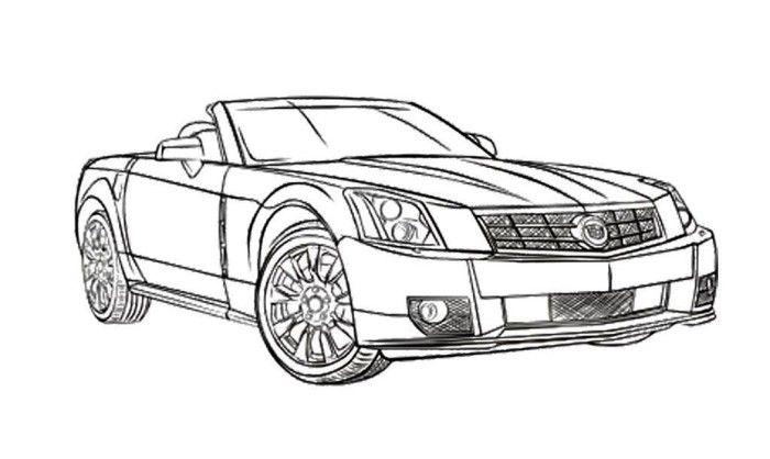 Cadillac Car Coloring Pages : Cadillac xlr coloring page windscreen