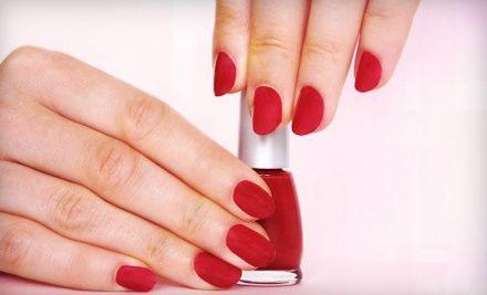 Groupon - Soak-Off Gel Polish Manicure or a Full Set of Acrylic Nails