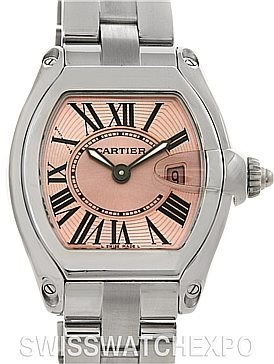 Lovin' the pink!!!  Cartier Roadster Ladies Pink Dial