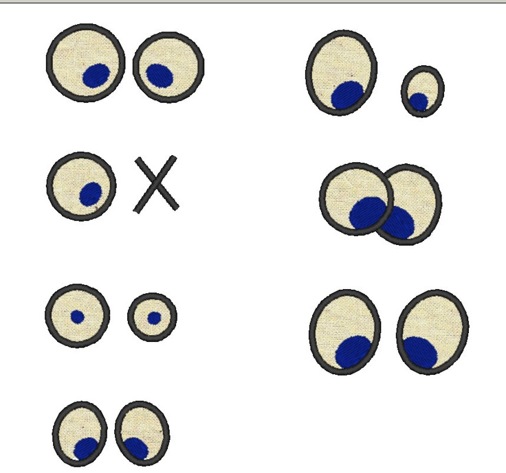 Your Toy Eyes  INSTANT DOWNLOAD  Machine Embroidery