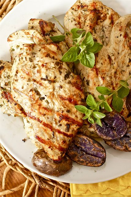 Grilled Greek Chicken - I like mine with dill, lemon, olive oil and ...