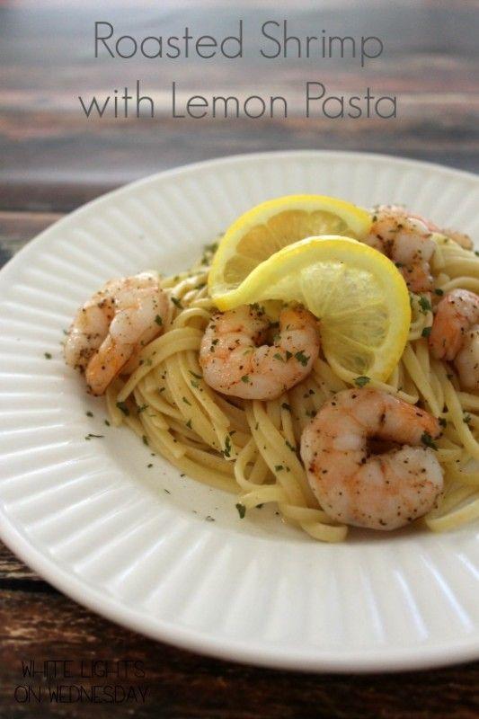 Roasted Shrimp with Lemon Pasta | Recipe