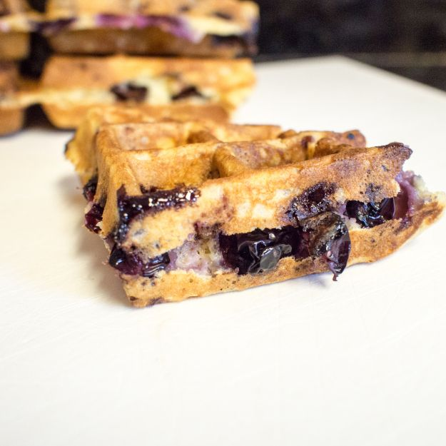 Blueberry and Lemon Sour Cream Waffles. Incredibly easy, high impact ...
