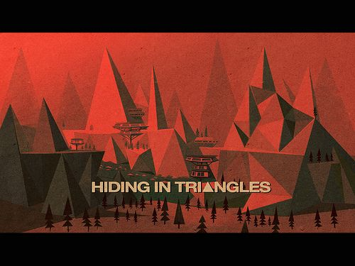 Hiding in Triangles (1967) by Matthew∙Lyons, via Flickr