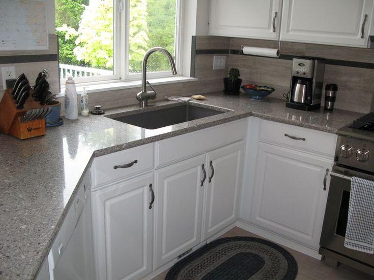 White Ash Quartz Countertops Kitchens Pinterest