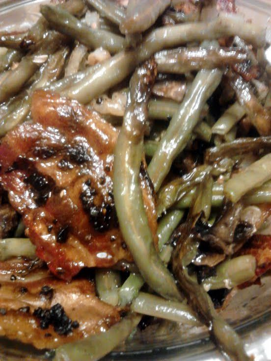 did differently was used fresh blanched green beans, added mushrooms ...